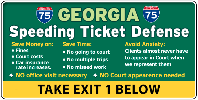 I-75 Henry Georgia Traffic / Speeding Ticket Lawyer/Attorney