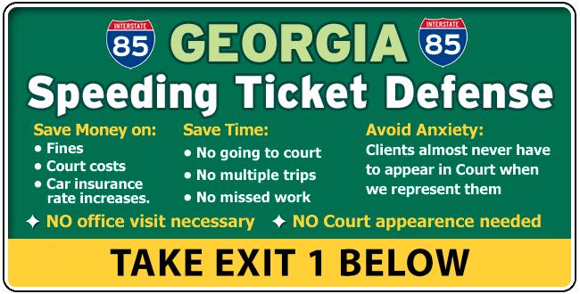 I-85 Harris Georgia Traffic / Speeding Ticket Lawyer Attorney