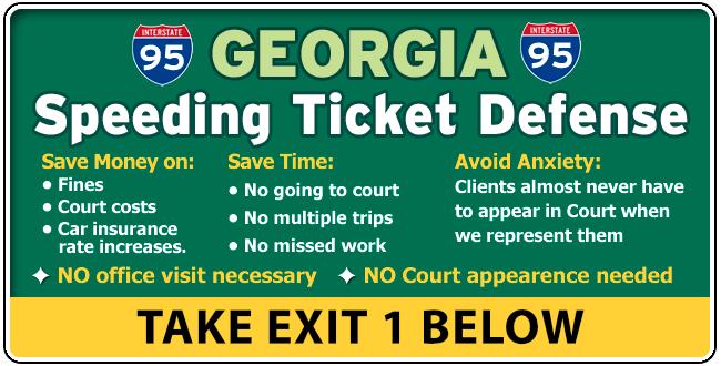 I-95 Glynn Georgia Traffic / Speeding Ticket Lawyer Attorney